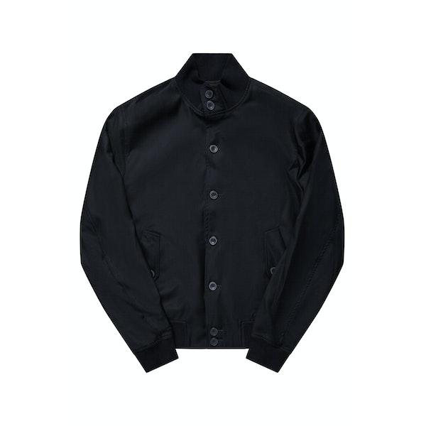 The Regent Black Harrington Wool Jacket