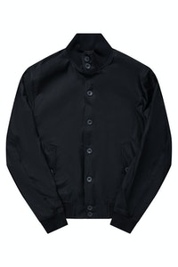 The Regent Black Harrington Wool Jacket
