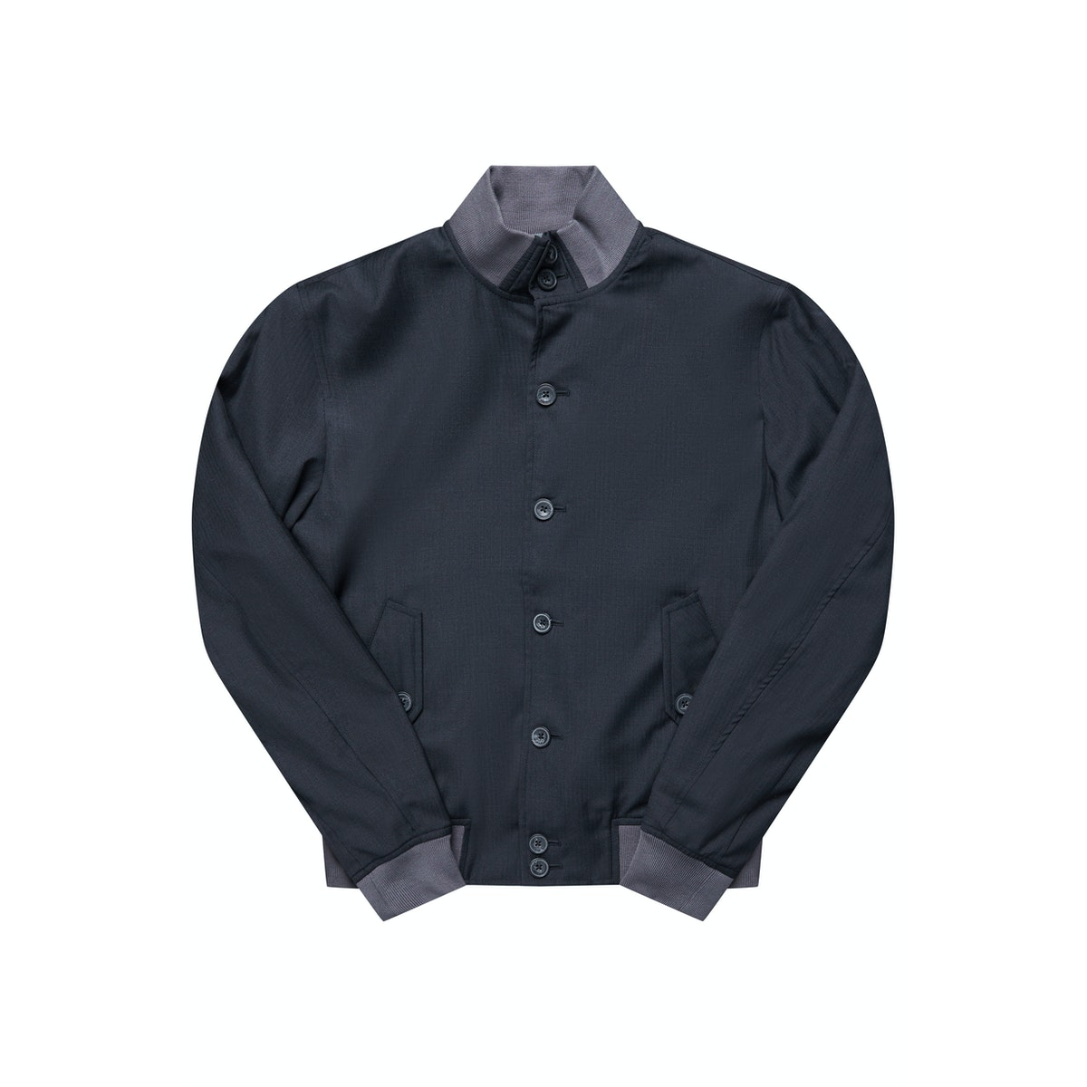 The Regent Charcoal Harrington Wool Jacket