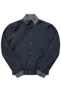 The Regent Charcoal Harrington Wool Jacket