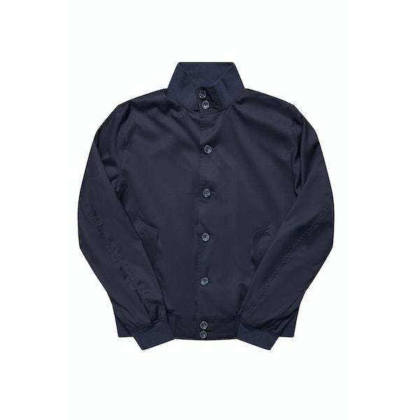 The Regent Navy Harrington Wool Jacket