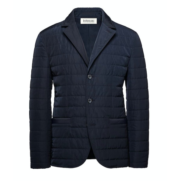 The Albion Quilted Navy Jacket