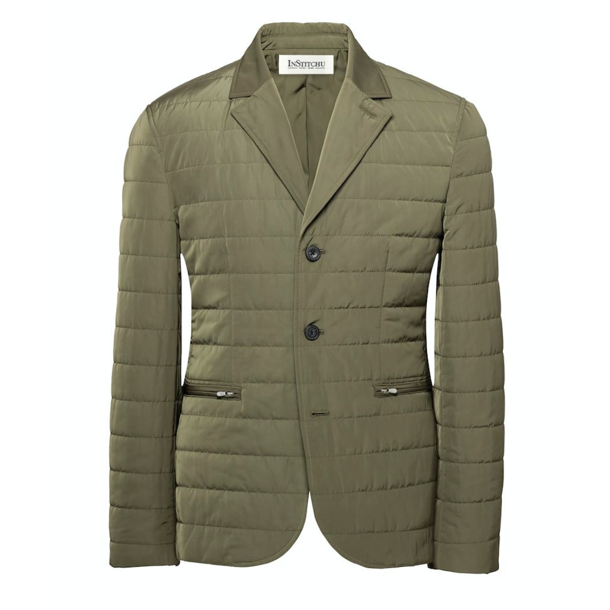 The Albion Quilted Olive Jacket