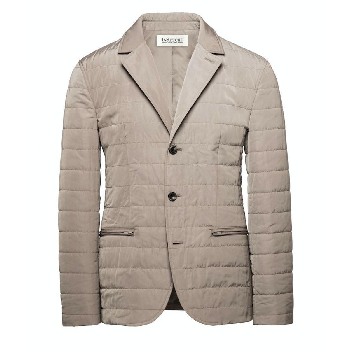 The Albion Quilted Taupe Jacket