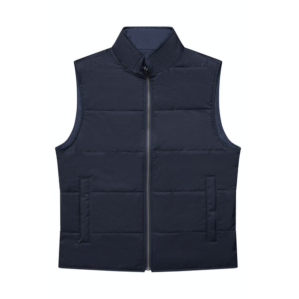 The Watergate Reversible Navy Vest