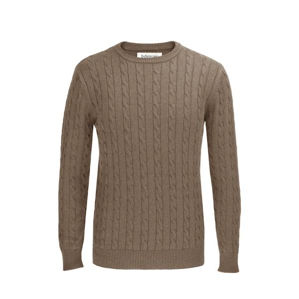 The Evans Beige Cotton Cable Knit