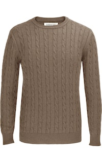 The Evans Beige Cotton Cable Knit