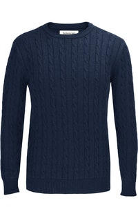 The Evans Navy Cotton Cable Knit