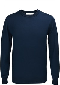 The Newman Navy Crew Neck Wool Sweater