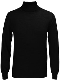 The Valentino Black Wool Roll Neck Knit