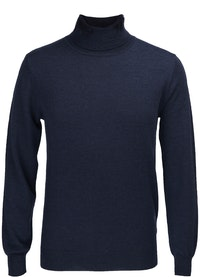 The Valentino Navy Wool Roll Neck Knit