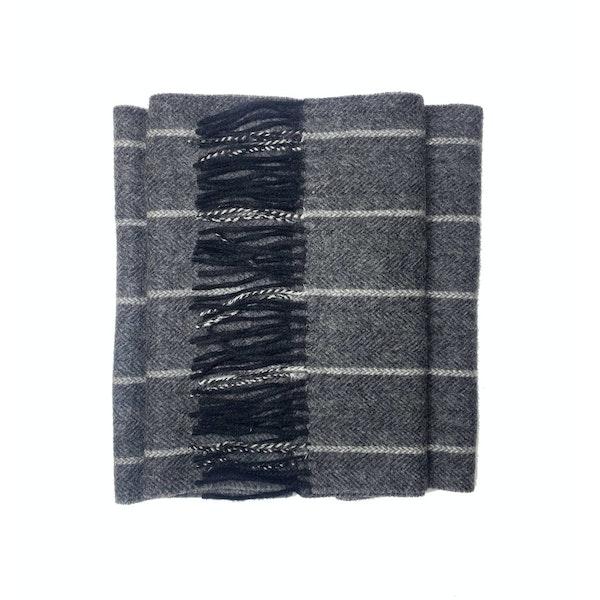 The Wolfe Grey Wool Scarf