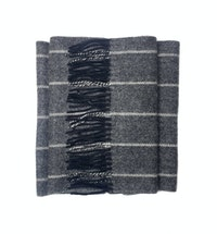 The Wolfe Grey Wool Scarf