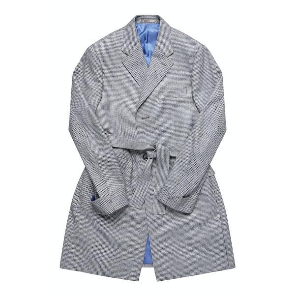 The Coonawarra Brown Houndstooth Wool Overcoat