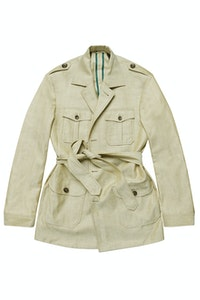 The Grampians Beige Wool-Linen Safari Jacket