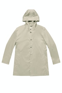 The Glenrowan Pale Grey Cotton Trench Coat