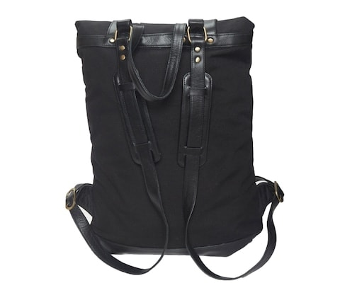 InStitchu Accessories bag TOC Black Canvas Backpack