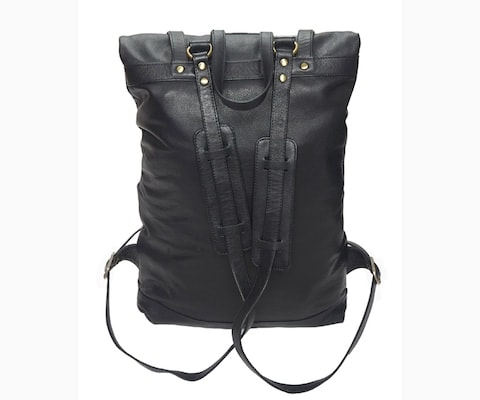 InStitchu Accessories bag TOC Black Leather Backpack