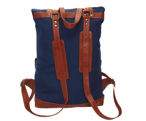 InStitchu Accessories bag TOC Blue Canvas Backpack