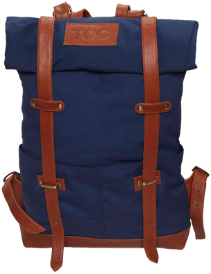 InStitchu Accessories bag TOC Blue Canvas Backpack