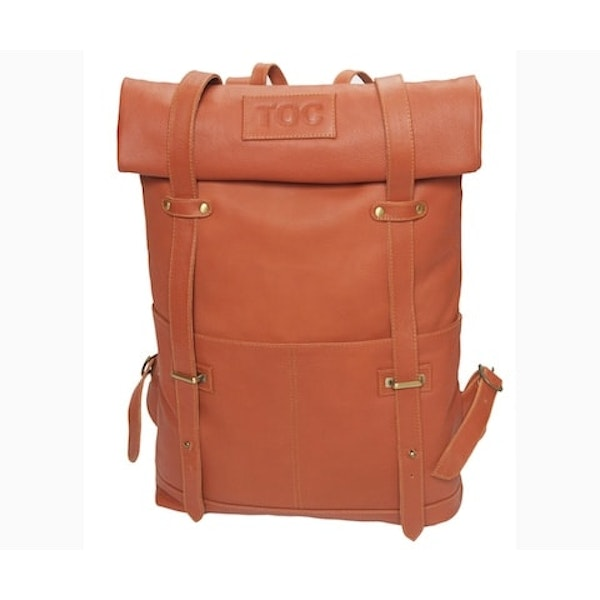 InStitchu Accessories bag TOC Brown Leather Backpack