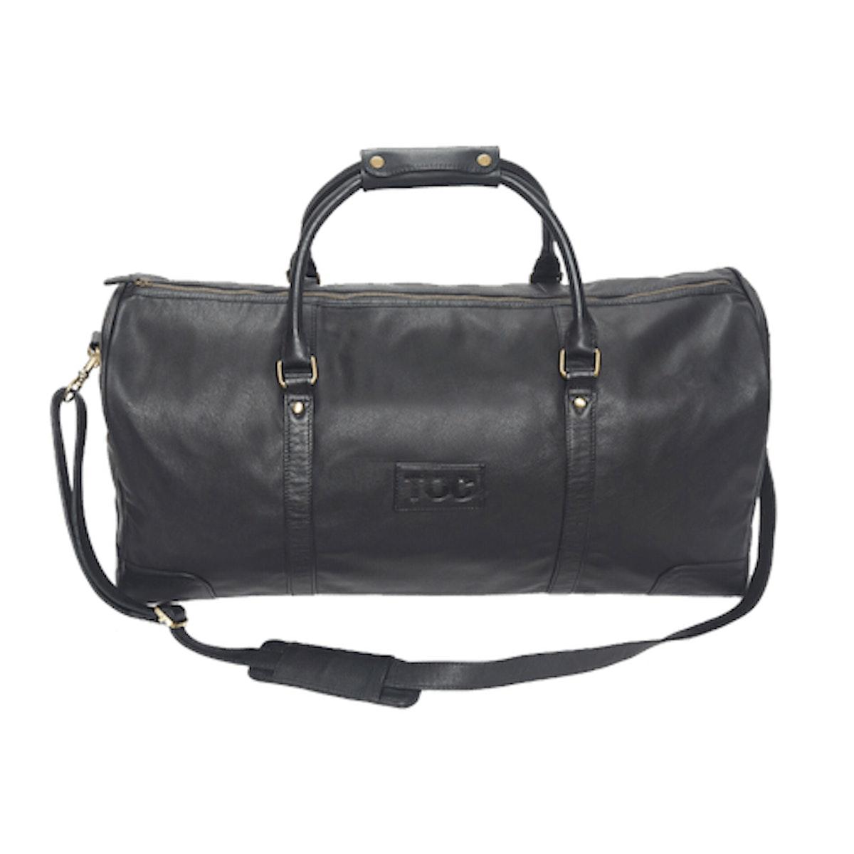 InStitchu Accessories bag TOC Black Leather Duffel Bag