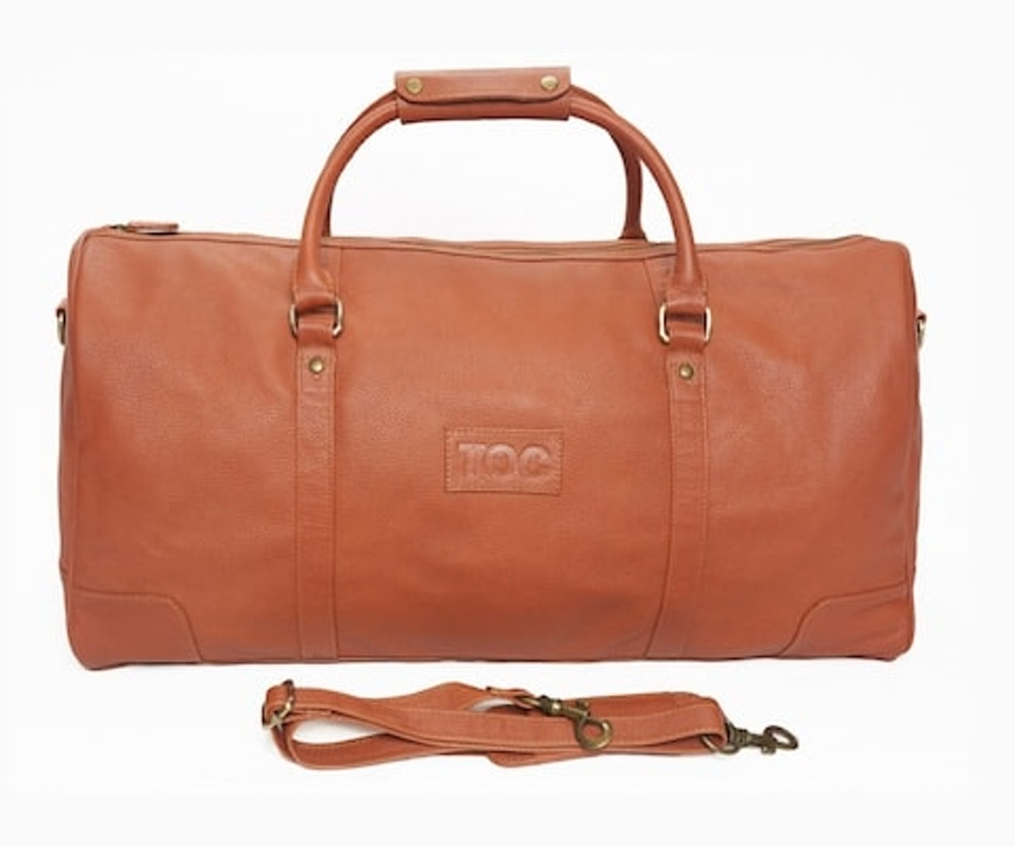 InStitchu Accessories bag TOC Brown Leather Duffel Bag