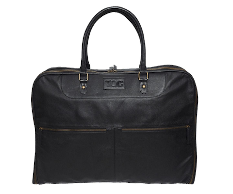 InStitchu Accessories bag TOC Black Leather Garment Bag