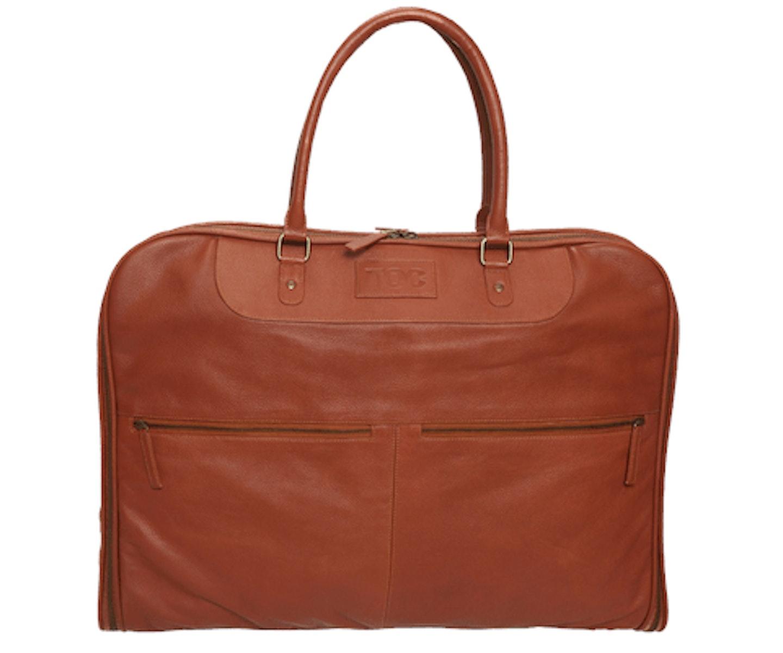 InStitchu Accessories bag TOC Brown Leather Garment Bag