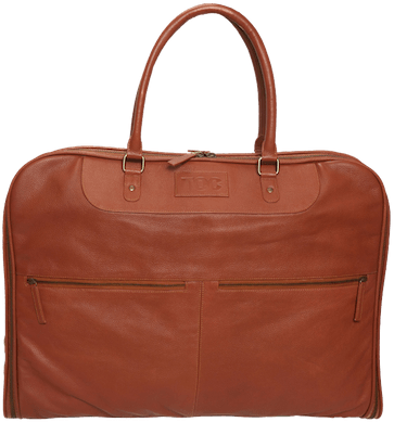 InStitchu Accessories bag TOC Brown Leather Garment Bag