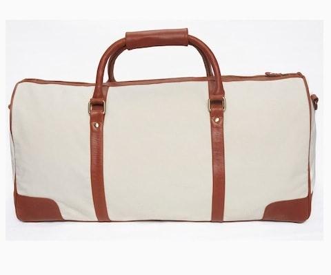 InStitchu Accessories bag TOC White Canvas Duffel Bag
