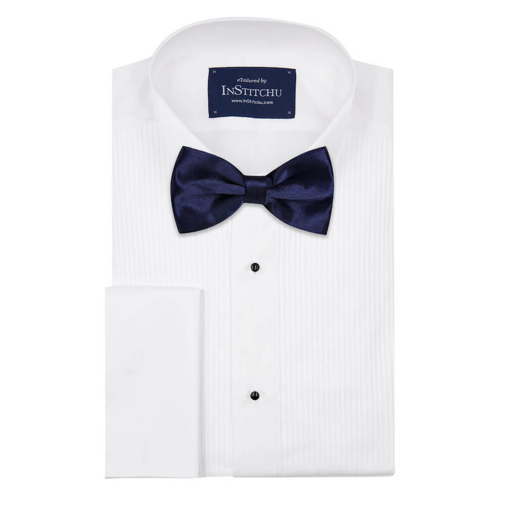 InStitchu Accessories bow-tie InStitchu Navy Bow Tie on shirt