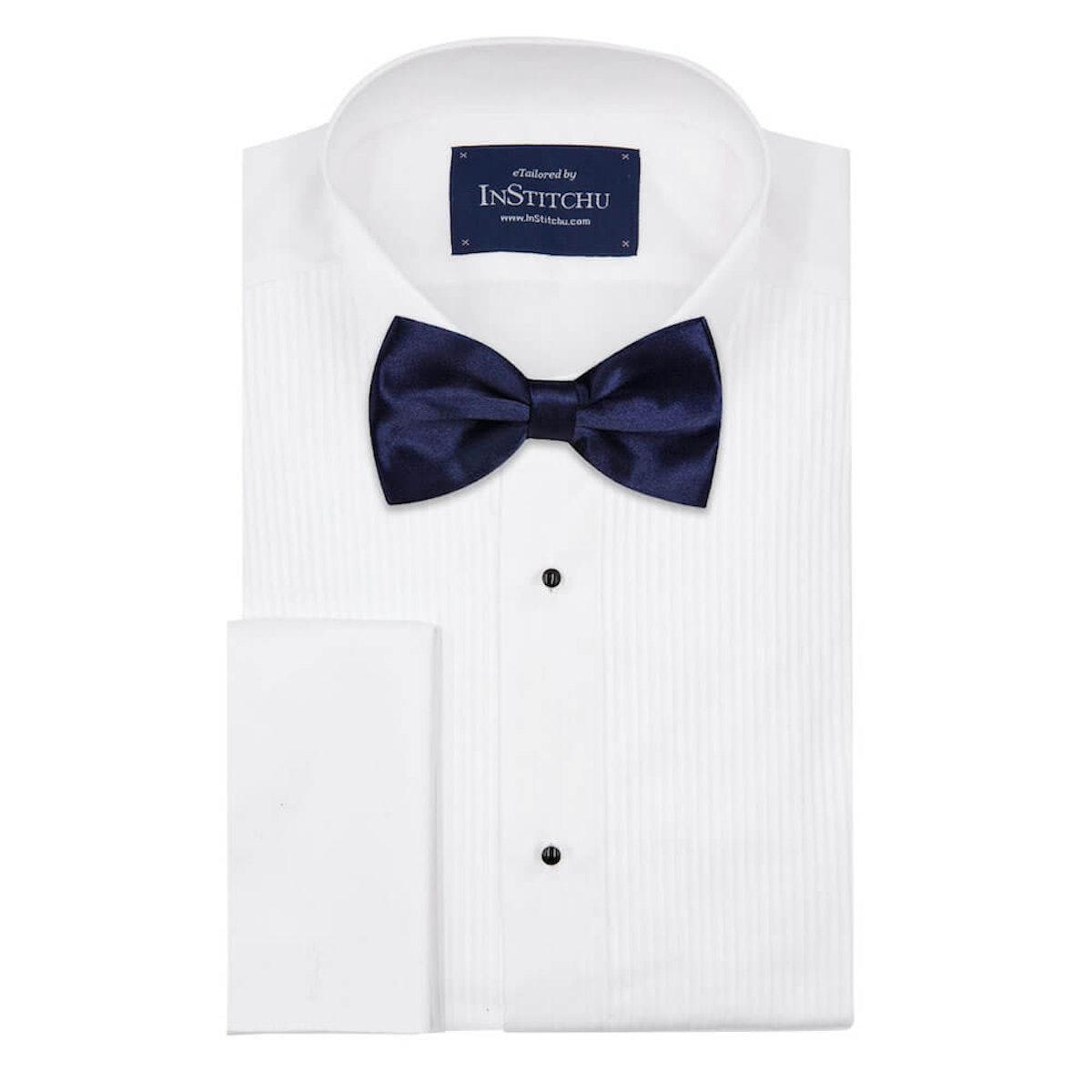 InStitchu Accessories bow-tie InStitchu Navy Bow Tie on shirt
