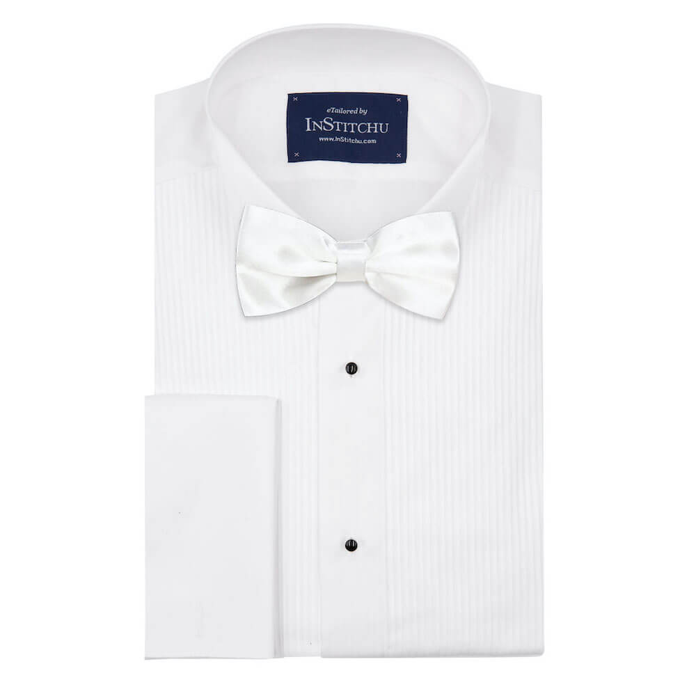 InStitchu Accessories bow-tie InStitchu White Bow Tie
