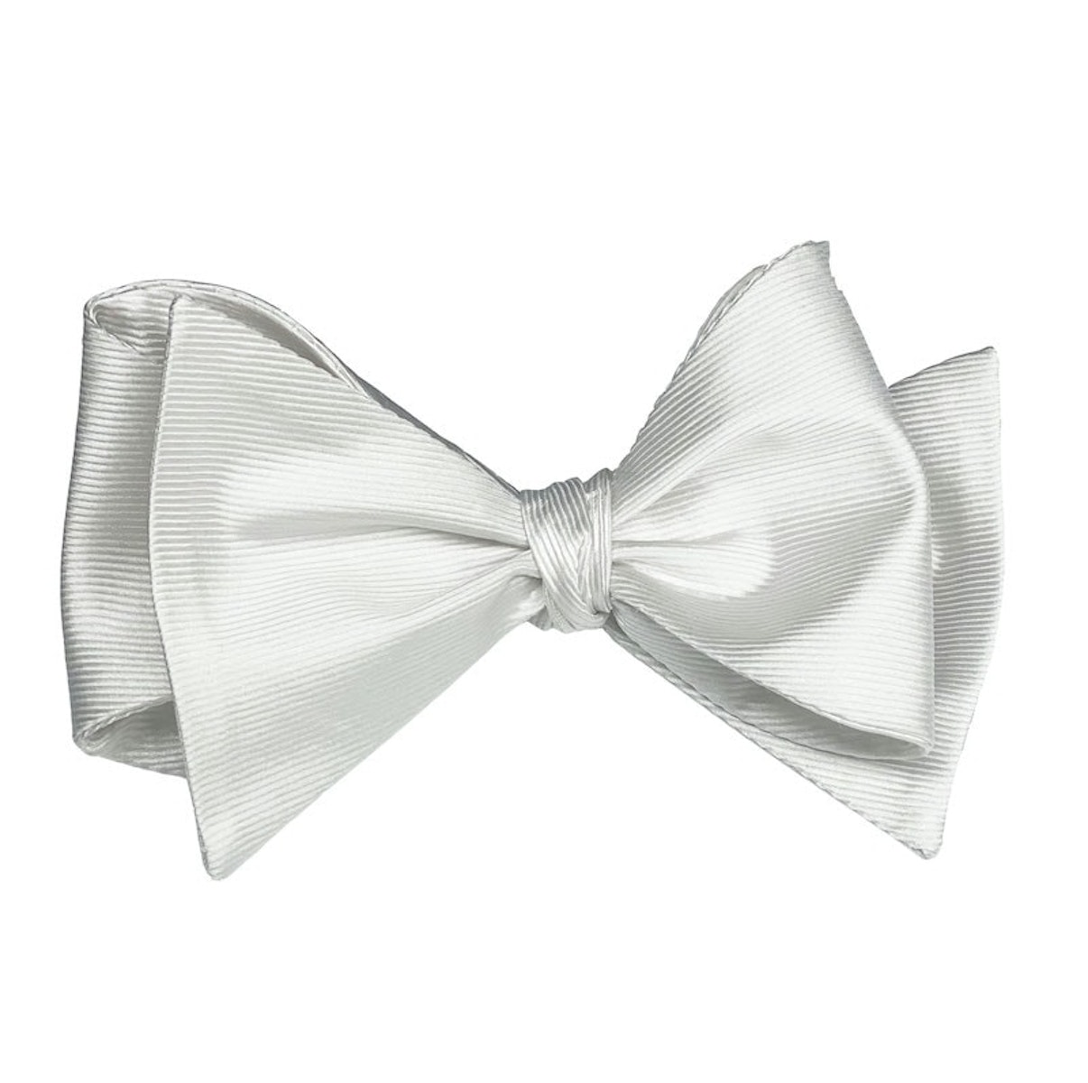 InStitchu Collection The Doyle White Silk Self-Tie Bow Tie