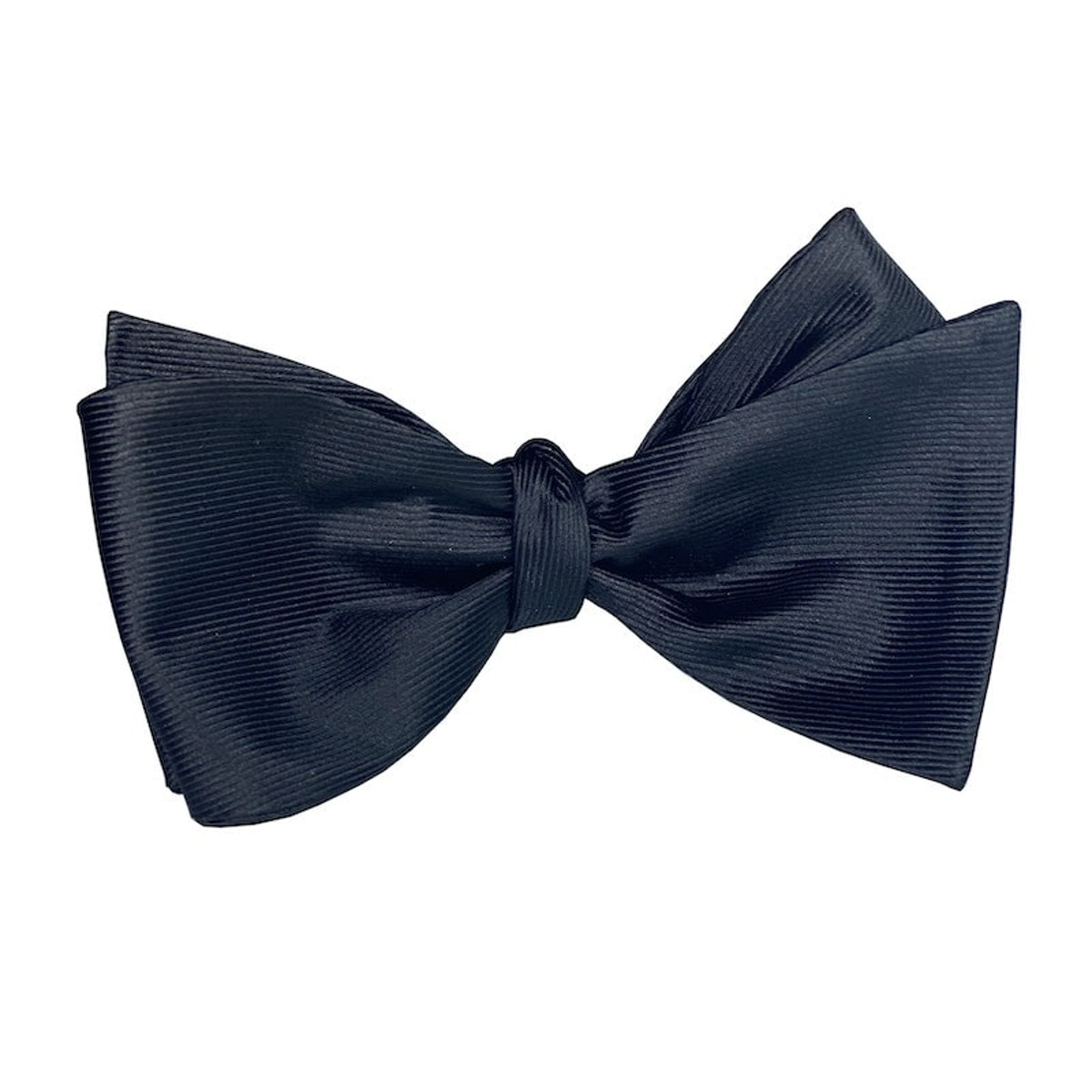 InStitchu Collection The Fitzgerald Black Silk Self-Tie Bow Tie