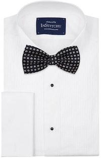 InStitchu Accessories bow-tie The Salinger Navy Premium Flower Bow Tie