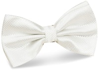 InStitchu Accessories bow-tie The Wolfe White Satin Bow Tie