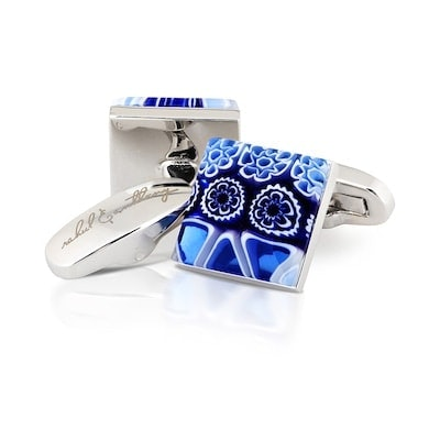 InStitchu Accessories cufflinks Rahul & Anthony Petali Blu