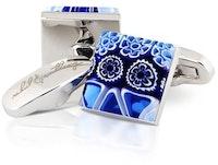 InStitchu Accessories cufflinks Rahul & Anthony Petali Blu