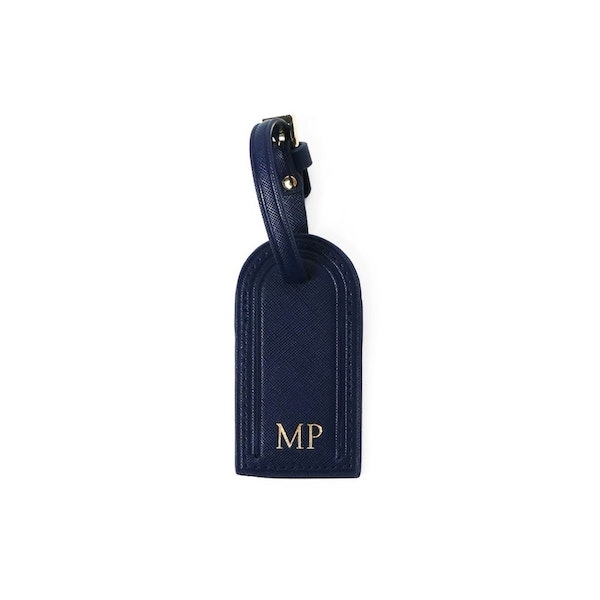 InStitchu Collection Mark And Scribe Navy Luggage Tag