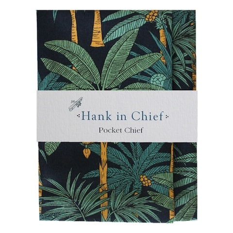 InStitchu Accessories pocket-square Hank in Chief Arnold Navy Pocket Chief