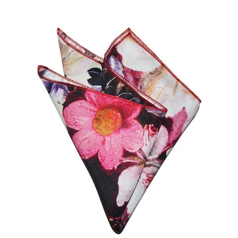 InStitchu Accessories pocket-square Krew & Co Candy Blooms Pocket Square