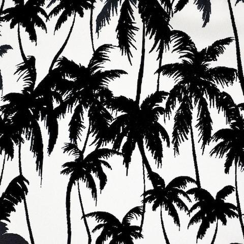 InStitchu Accessories pocket-square Krew & Co Palms Noir Pocket Square
