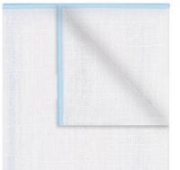 InStitchu Accessories pocket-square The Lawson Linen White & Baby Blue Trim Pocket Square
