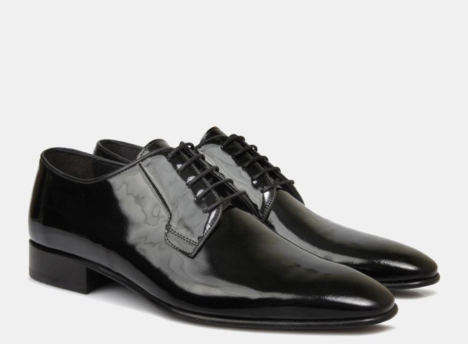 Brando Patent Black Ellis Lace Up shoes