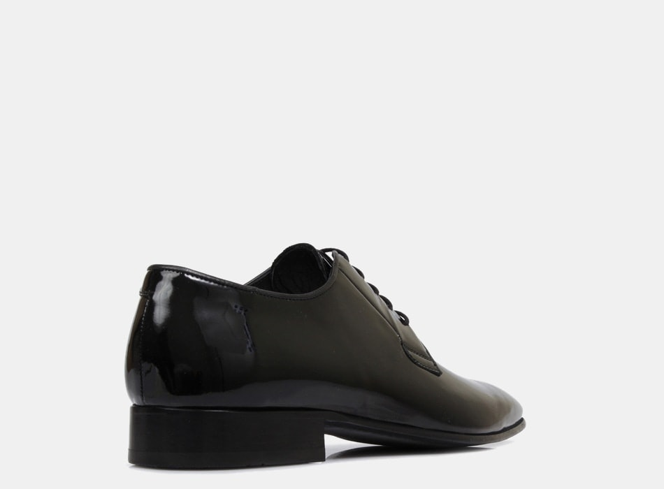 Brando Patent Black Ellis Lace Up shoes