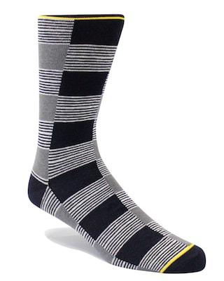 InStitchu Accessories socks Swanky Blurred Lines Yellow