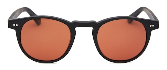 InStitchu Accessories sunglasses Pacifico Optical Buckler Matte Black with Copper Lens