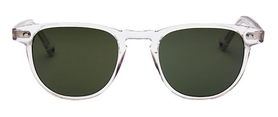 InStitchu Accessories sunglasses Pacifico Optical Campbell Crystal with Green Lens